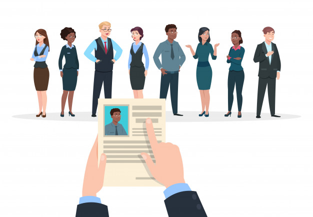 recruitment-concept-business-people-candidates-interview-businessman-holds-cv-resume-employment-career_53562-9729